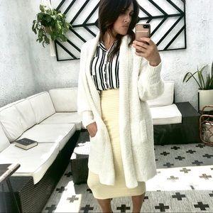 Cream long knitted sweater/jacket/shrug